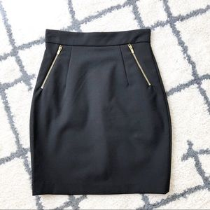 H&M NWT Black Pencil Skirt with zippered pockets